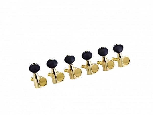 ORTEGA E-Guitar tuning machines, 6 in line - Gold (OTMEG6L-GO)
