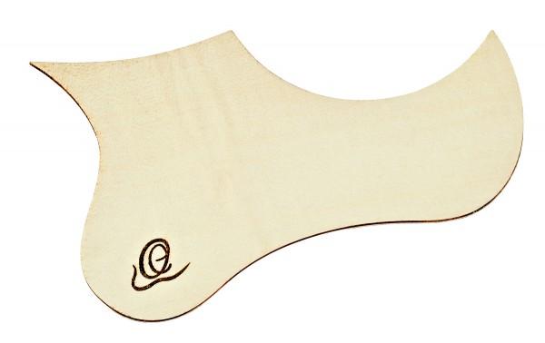 ORTEGA Wooden Pickguard for Ukulele - Flamed Maple for TE & BA (OWPTB-FMA)
