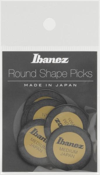 IBANEZ Round Pick 0,8mm - 6 Stück schwarz (PPA1M-BK)