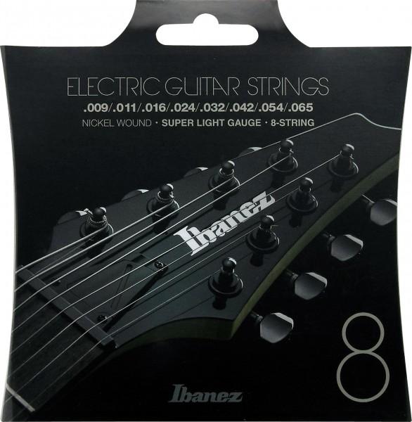 IBANEZ Saitensatz E-Gitarre Nickel Wound 8-Saiter - Super Light 9-65 (IEGS8)