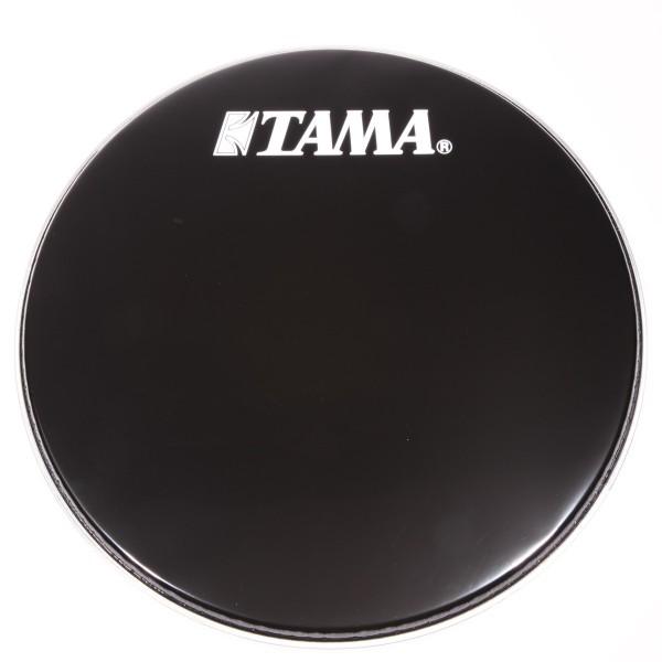 "TAMA 24"" Bassdrum Resonanzfell Schwarz mit weißem Tama Logo (BK24BMWS)"