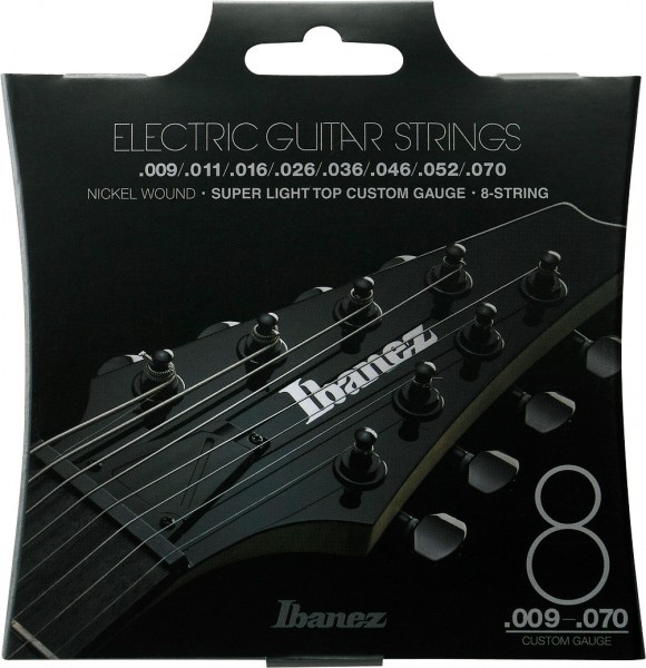 IBANEZ String Set Electric Guitar Nickel Wound 8-String - Super Light Top for long scale 9-70 (IEGS82)