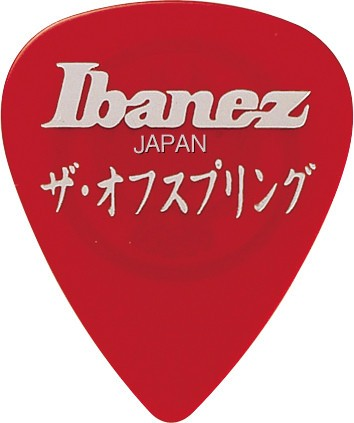 IBANEZ Signature Picks The Offspring Heavy 1,0mm - rot aus celluloid 6er Pack (BOS-RD)