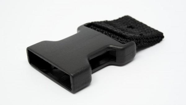 HARDCASE vorgefertigte Gurte - schwarz 30mm weiblich (P707BS)