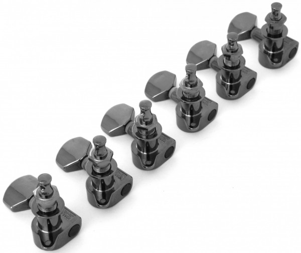 Ibanez die-cast machine head set L*6 in cosmo black for selected SA/X series models - für ausgewählte SA / X Modelle (2MH27A0003)