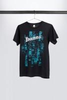 """IBANEZ T-Shirt in schwarz mit türkisem """"Effects"""" Frontprint (IT11PEDBK)"""