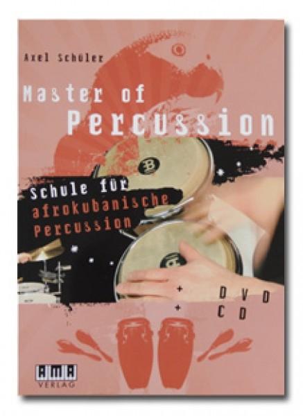 "Axel Schüler ""Master of Percussion - Schule für afrokubanische Percussion"" textbook incl. CD and DVD - German (MASTEROFPERC)"