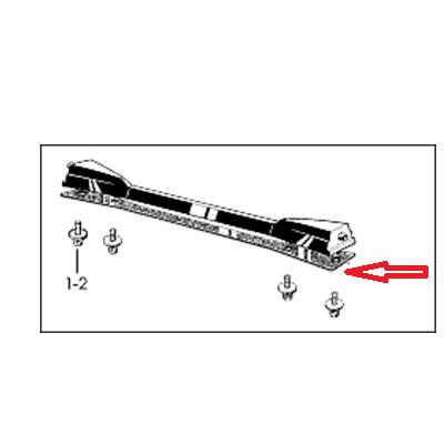 "Tama rubber plate for brackets with 12"" depth (ArtstarCustom/Artstar ES) (MHL12T4)"