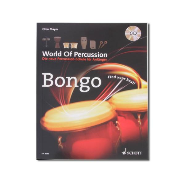 "Ellen Mayer ""World Of Percussion Bongo"" Lehrbuch inkl. CD - Deutsch (WOP-BONGO)"