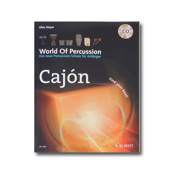 "Ellen Mayer ""World Of Percussion Cajón"" Lehrbuch inkl. CD - Deutsch (WOP-CAJON)"