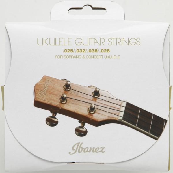 IBANEZ Saiten Set für 4 String Sopran/Konzert Ukulele - .025/.032/.036/.028 Black Nylon (IUKS4)