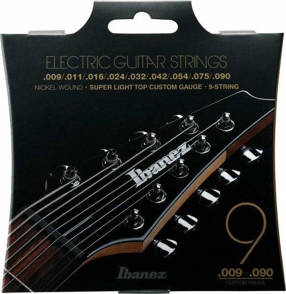 IBANEZ Saitensatz E-Gitarre Nickel Wound 9-Saiter - Super Light für long scale 9-90 (IEGS9)