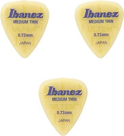 IBANEZ FLAT PICK ULTEM - 3 Stück, Medium Thin 0,73mm (BUL14MT073)