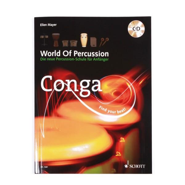"Ellen Mayer ""World Of Percussion Conga"" textbook incl. CD - German (WOP-CONGA)"