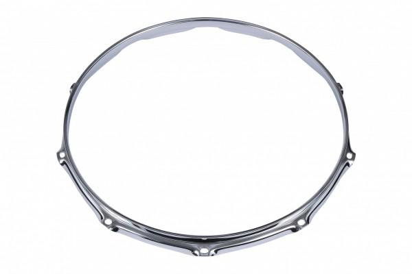 "TAMA 2.3mm Steel Mighty Hoop 14"" 10-Hole - Chrome Batter Side (MFM14-10)"