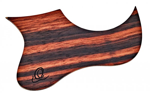 ORTEGA Wooden Pickguard for Ukulele - Striped Ebony for CC & SO (OWPSC-EB)