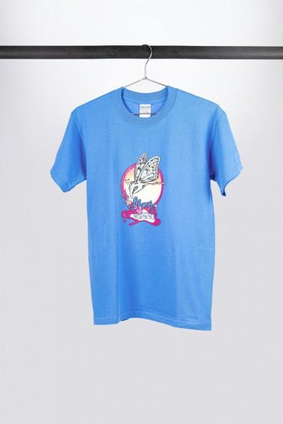 Light blue Ibanez t-shirt with retro logo on chest (ITIB)