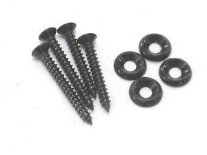 IBANEZ neck screw set in black - 2x35mm + 2x40mm + 4x washers (NECK-SCREWSET)