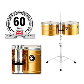 """MEINL Percussion 60th Anniversary - Timbales Set 15+16"""" inkl. Ständer (60-BT1516)"""